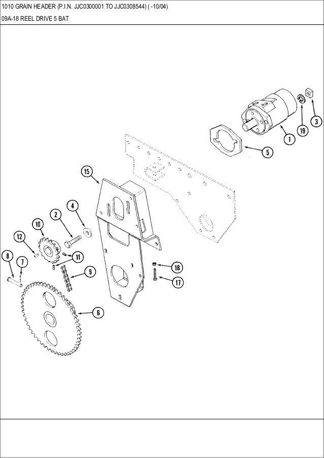 CASE 1010 GRAIN HEADER parts catalog