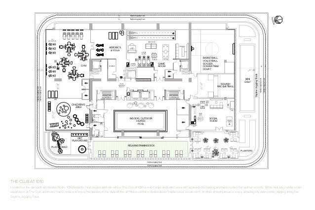 1010 brickell brochure for Golf simulator room dimensions