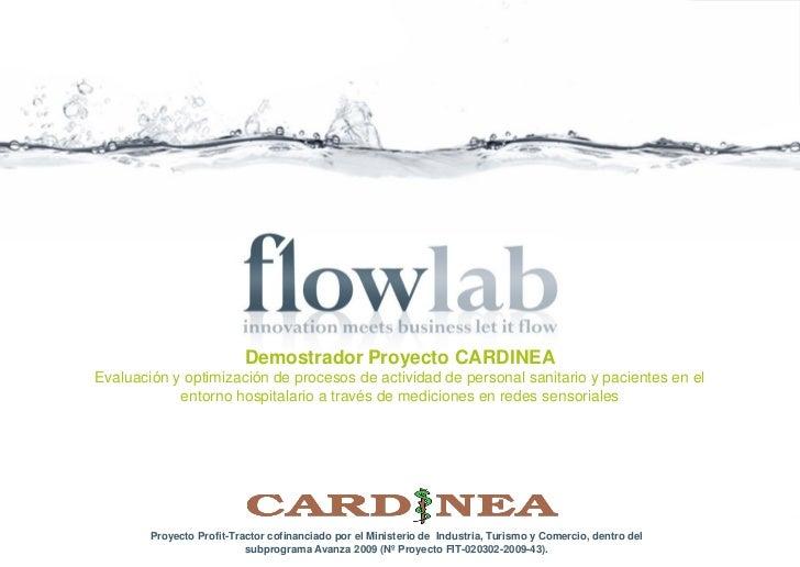 Demostrador Proyecto CARDINEAEvaluación y optimización de procesos de actividad de personal sanitario y pacientes en el   ...
