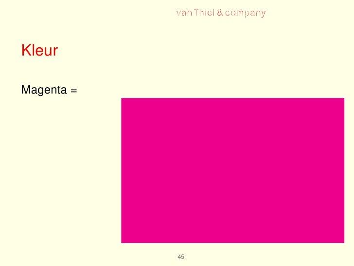 Marketing 101006 hv a inleiding designmanagement - Kleur associatie ...