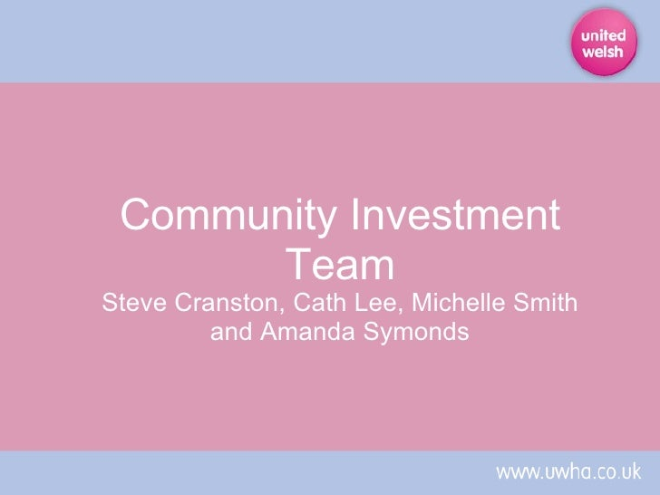 Community Investment Team Steve Cranston, Cath Lee, Michelle Smith and Amanda Symonds