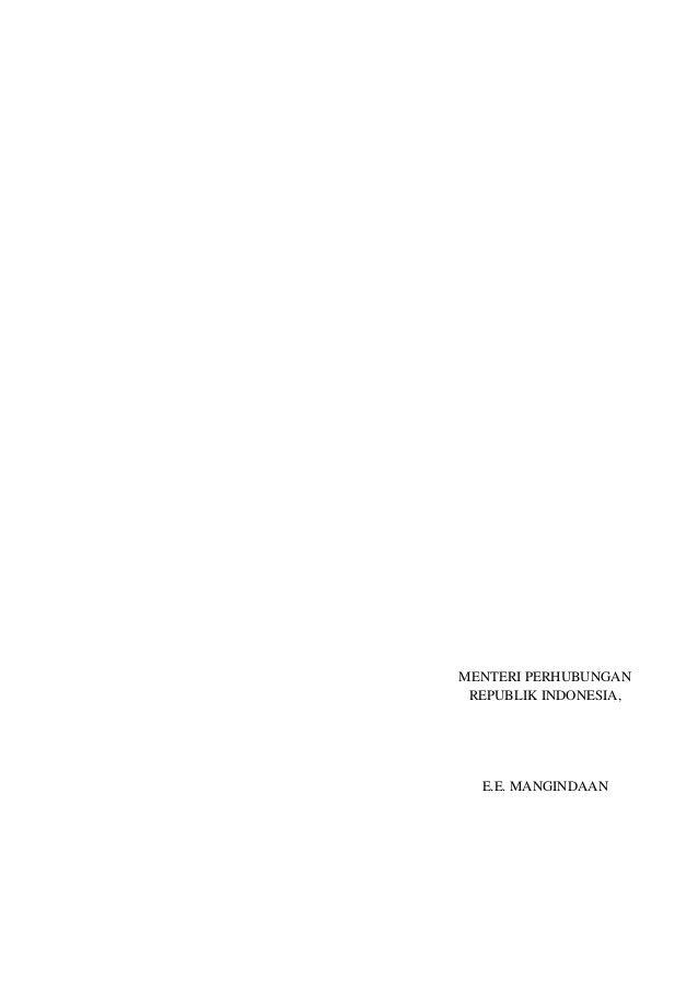 MENTERI PERHUBUNGANREPUBLIK INDONESIA,E.E. MANGINDAAN