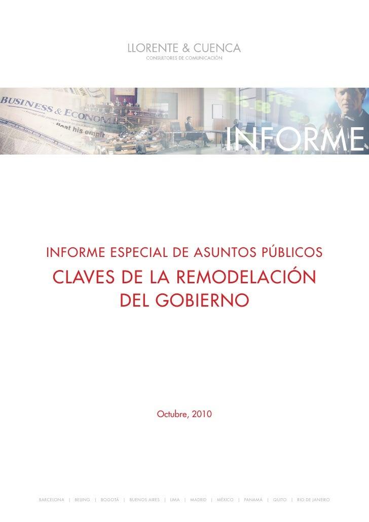 Informe especIal de asuntos públIcos: claves de la remodelacIón del GobIerno                                              ...