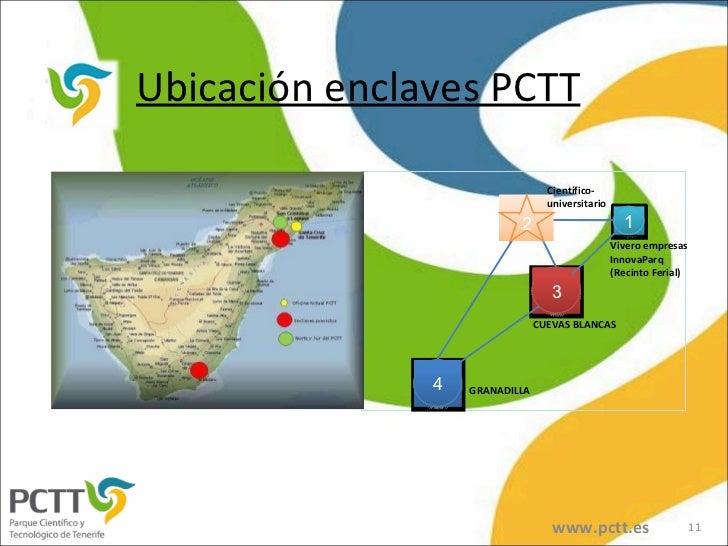 Ubicación enclaves PCTT www.pctt.es 1 3 4 GRANADILLA Vivero empresas InnovaParq (Recinto Ferial) CUEVAS BLANCAS Científico...