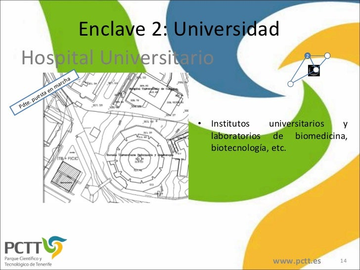 <ul><li>Institutos universitarios y laboratorios de biomedicina, biotecnología, etc. </li></ul>Enclave 2: Universidad Hosp...