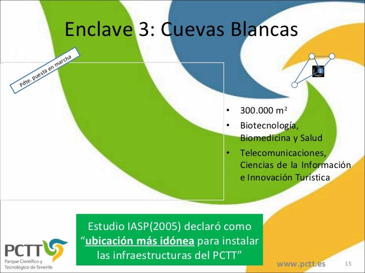 Enclave 3: Cuevas Blancas <ul><li>300.000 m 2 </li></ul><ul><li>Biotecnología, Biomedicina y Salud </li></ul><ul><li>Telec...
