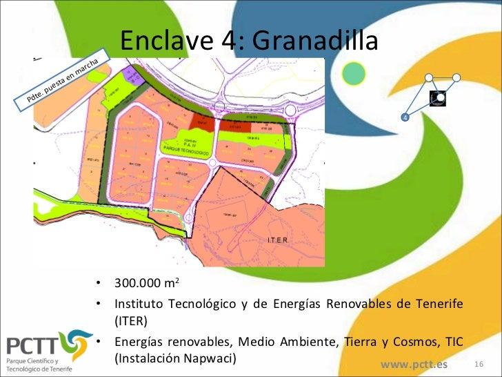 Enclave 4: Granadilla <ul><li>300.000 m 2 </li></ul><ul><li>Instituto Tecnológico y de Energías Renovables de Tenerife (IT...