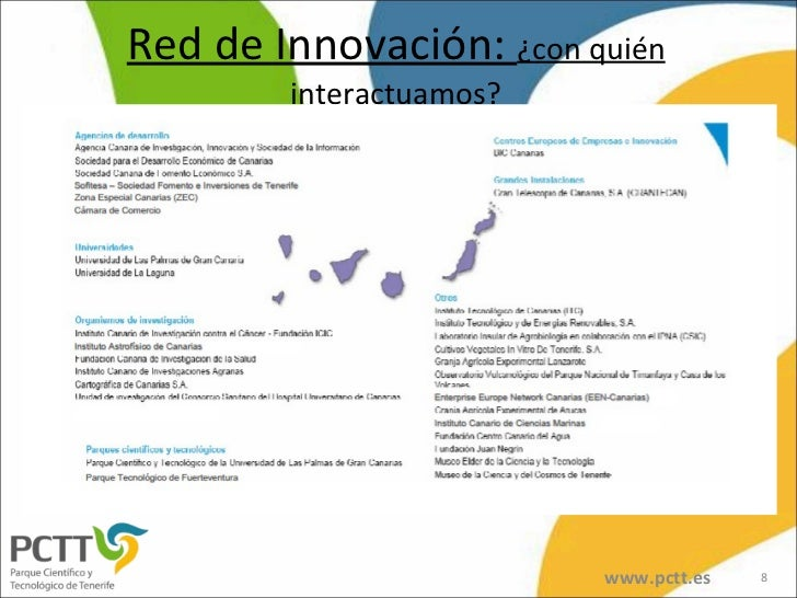 Red de Innovación:  ¿con quién interactuamos? www.pctt.es