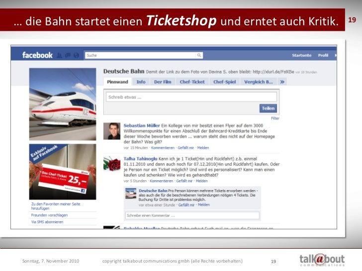 … die Bahn startet einen Ticketshop und erntet viel Kritik.                                            19      Dienstag, 2...