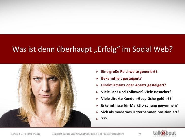 """Was ist denn überhaupt """"Erfolg"""" im Social Web?                                                                      » Eine..."""