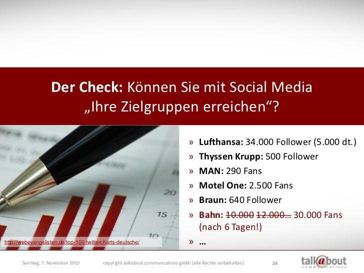 """Der Check: Können Sie mit Social Media                          """"Ihre Zielgruppen erreichen""""?                             ..."""