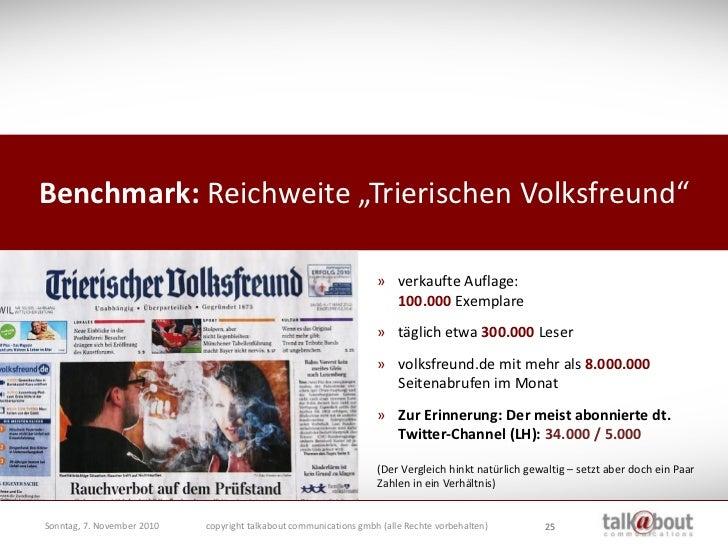 """Benchmark: Reichweite """"Trierischen Volksfreund""""                                                                      » ver..."""