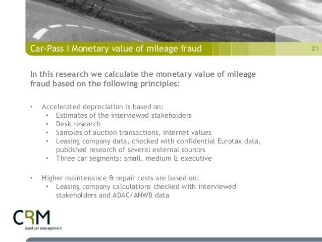 101118 Car Pass Mileage Fraud Presentation Brussels
