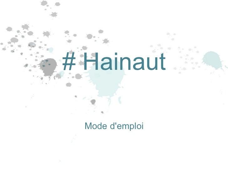 Mode d'emploi # Hainaut