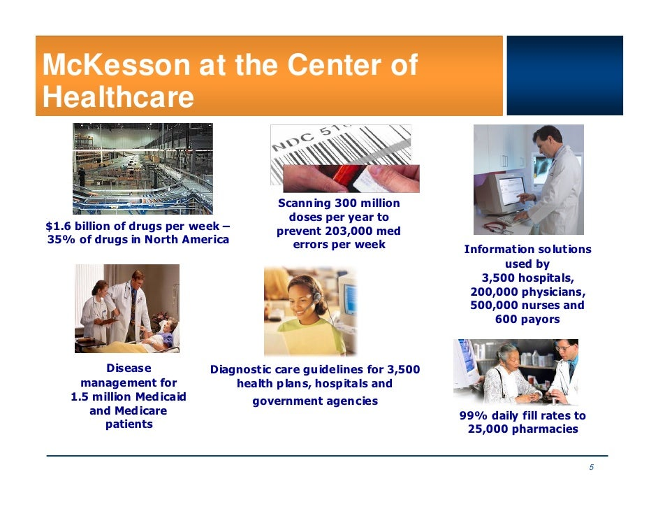 McKesson at the Center of Healthcare                                          Scanning 300 million                        ...