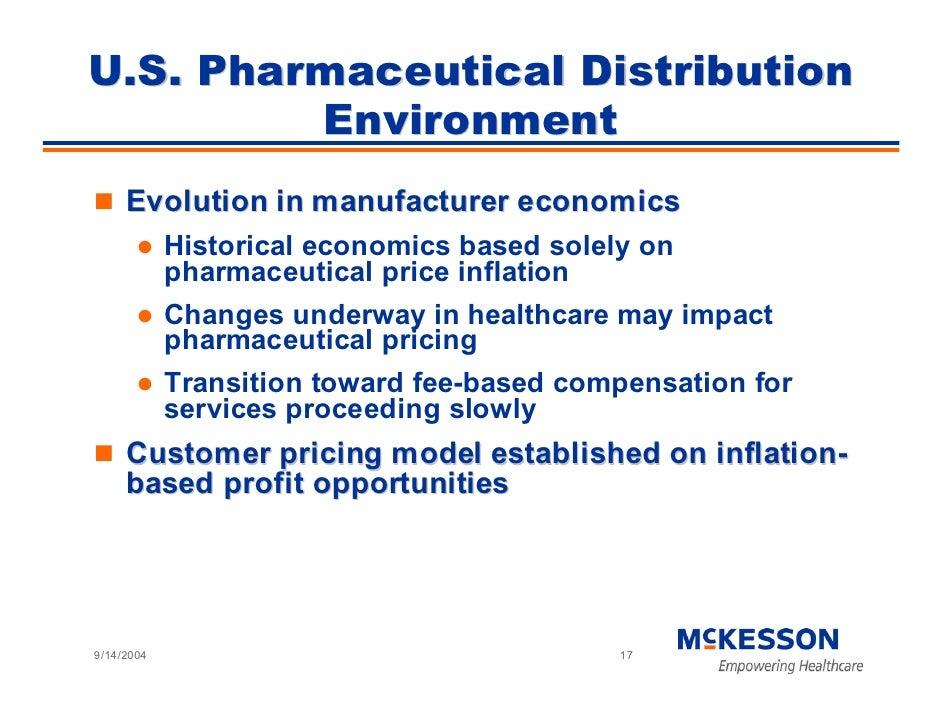 U.S. Pharmaceutical Distribution          Environment      Evolution in manufacturer economics             Historical econ...