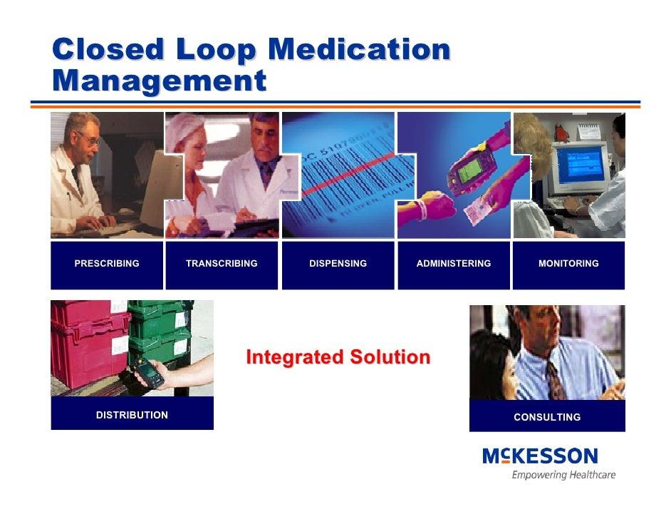 Closed Loop Medication Management      PRESCRIBING        TRANSCRIBING       DISPENSING      ADMINISTERING        MONITORI...
