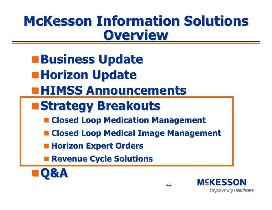 mckesson information solutions himss briefing rh slideshare net