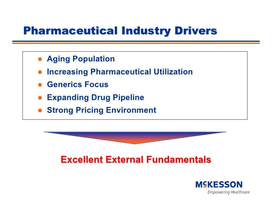 Pharmaceutical Industry Drivers     Aging Population    Increasing Pharmaceutical Utilization    Generics Focus    Expandi...