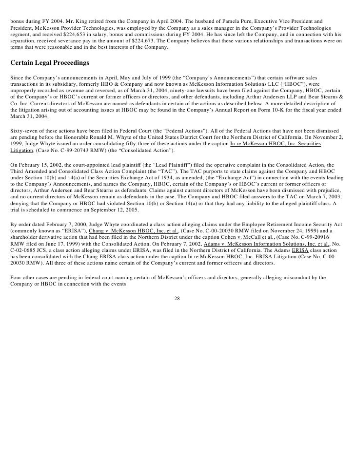 Proxy Statement for July 2004 Annual Meeting