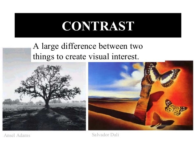 Elements And Principles Of Art Contrast : The elements of art principles design