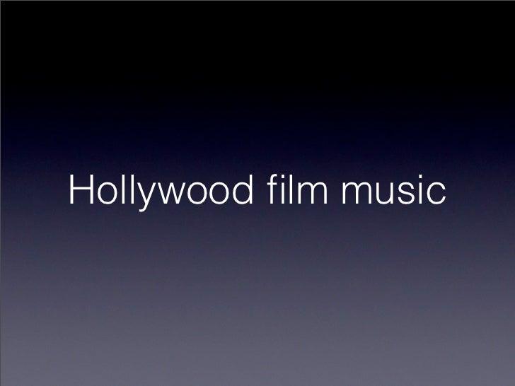 Hollywood film music