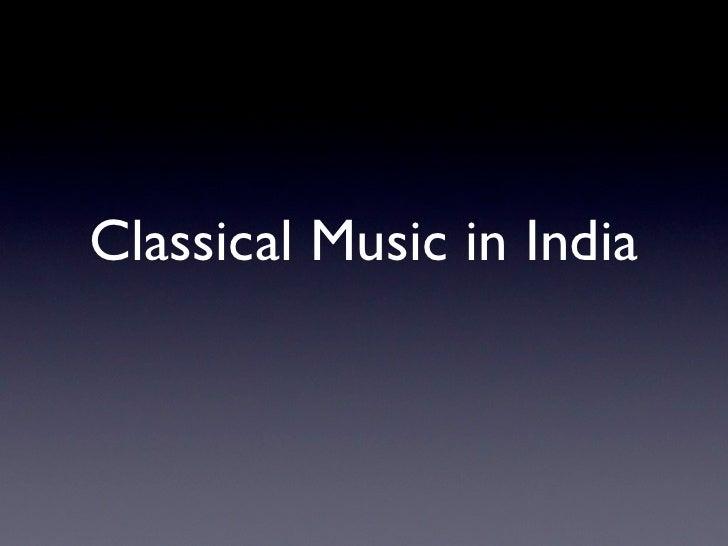 Classical Music in India