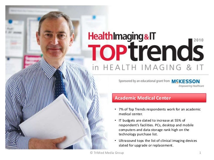 © TriMed Media Group<br />1<br />Academic Medical Center<br /><ul><li>7% of Top Trends respondents work for an academic me...