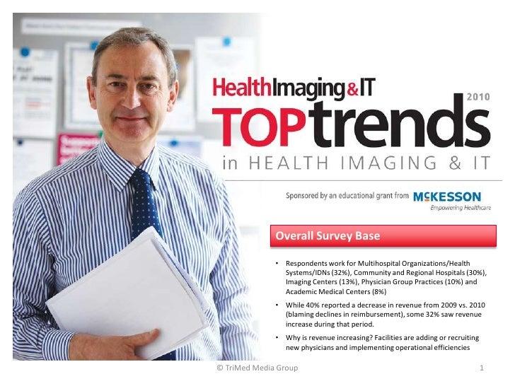 © TriMed Media Group<br />1<br />Overall Survey Base<br /><ul><li>Respondents work for Multihospital Organizations/Health ...
