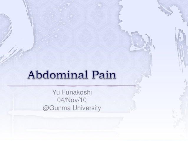 Yu Funakoshi 04/Nov/10 @Gunma University