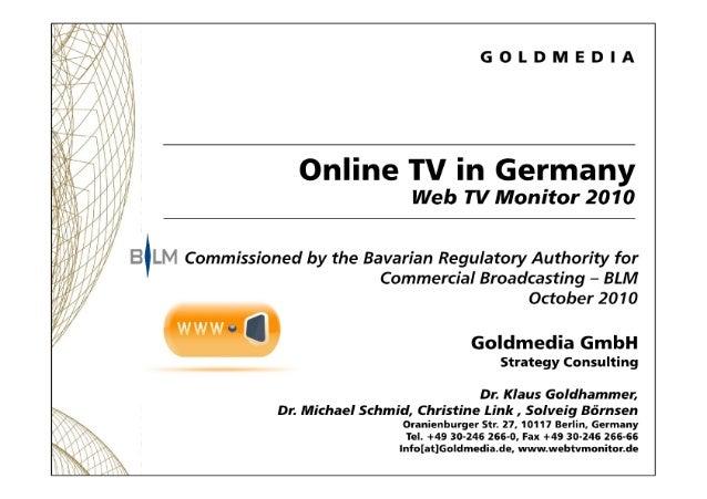 101108 goldmedia web tv monitor 2010_english
