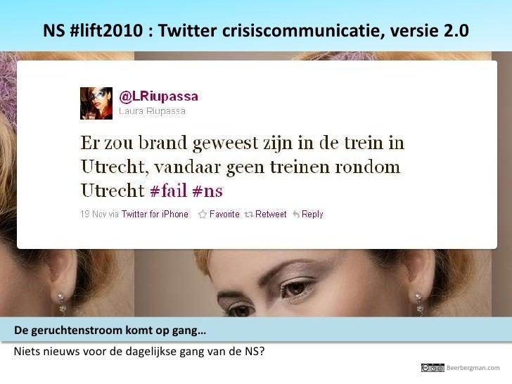 NS #lift 2010 Twitter crisiscommunicatie