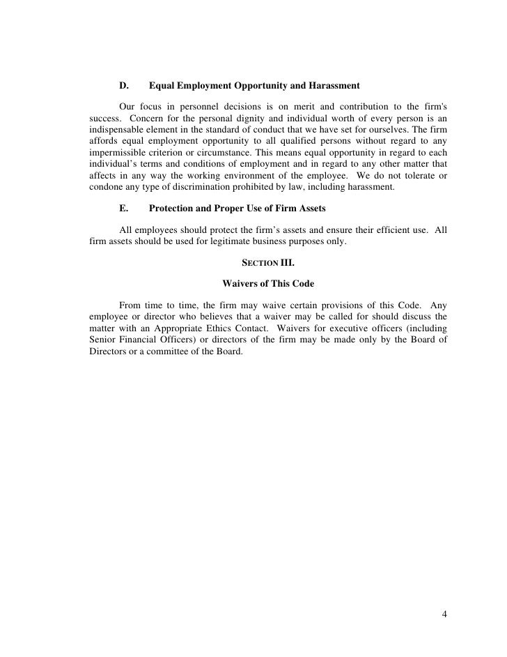 code of ethics of goldman sachs Approval of code of ethics and amendments to the code of ethics the board of trustees of each investment company shall approve this code of ethics any material amendments to this code of ethics must be approved by the board of trustees of each investment company no later than six months after the adoption of the material change.
