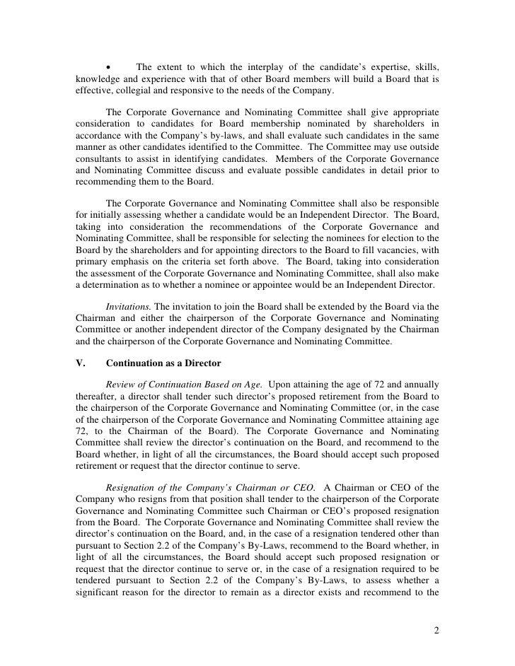 goldman sachs Corporate Governance Guidelines Slide 2