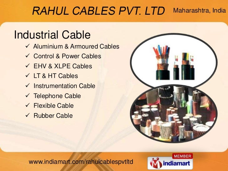Wire Amp Cable By Rahul Cables Pvt Limited Pune