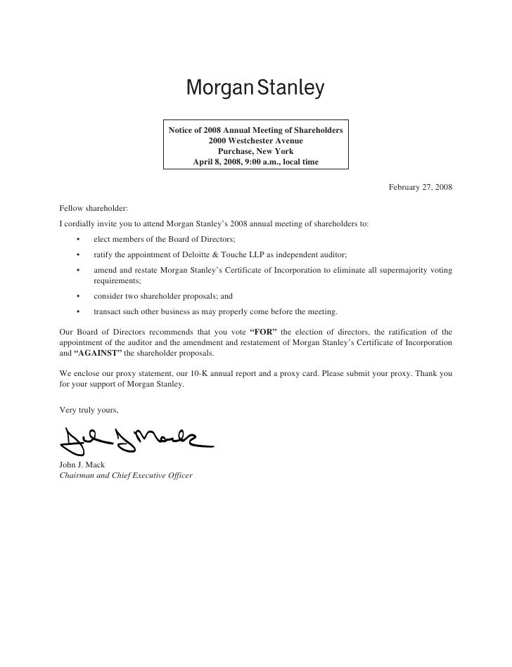 Notice of 2008 Annual Meeting of Shareholders                                           2000 Westchester Avenue           ...