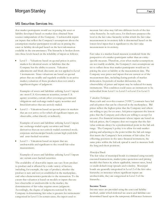 Morgan Stanley Ms Securities Services Inc