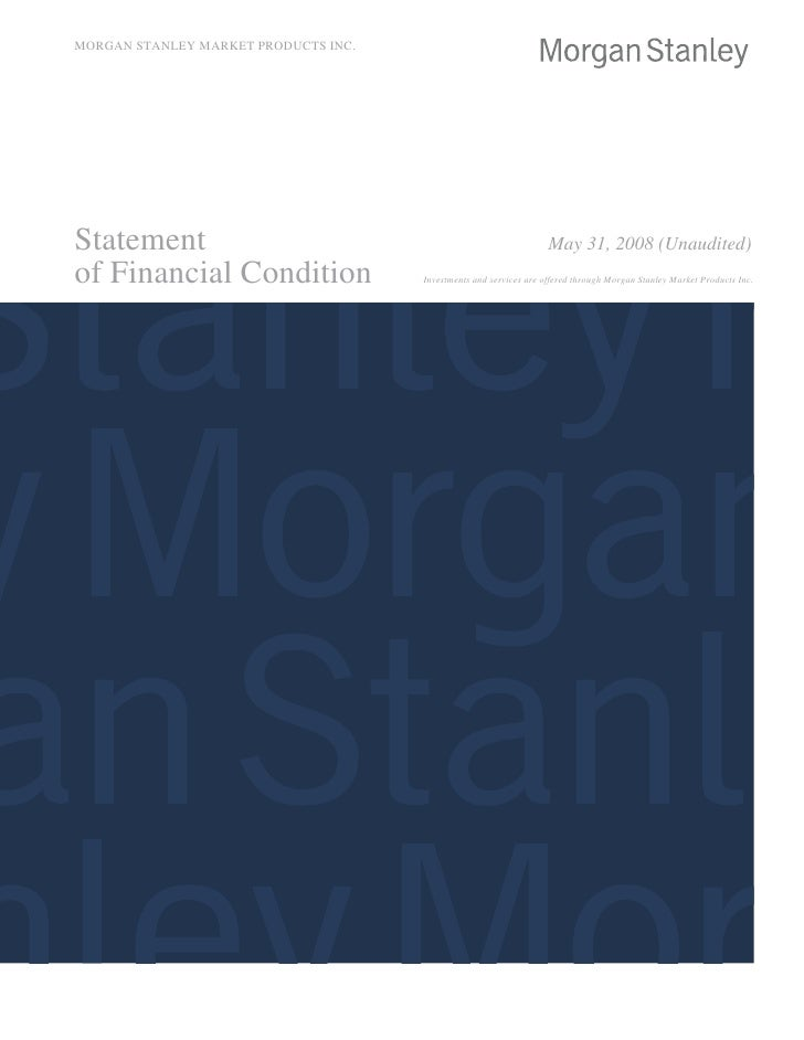 Morgan Stanley Ms Market Products Inc