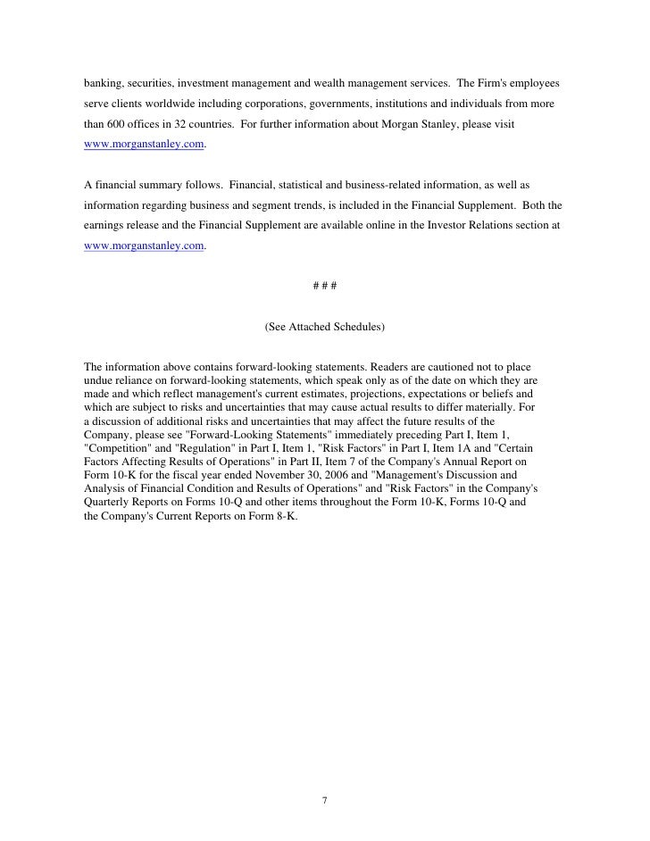 Morgan Stanley Earnings Archive2007 3rd