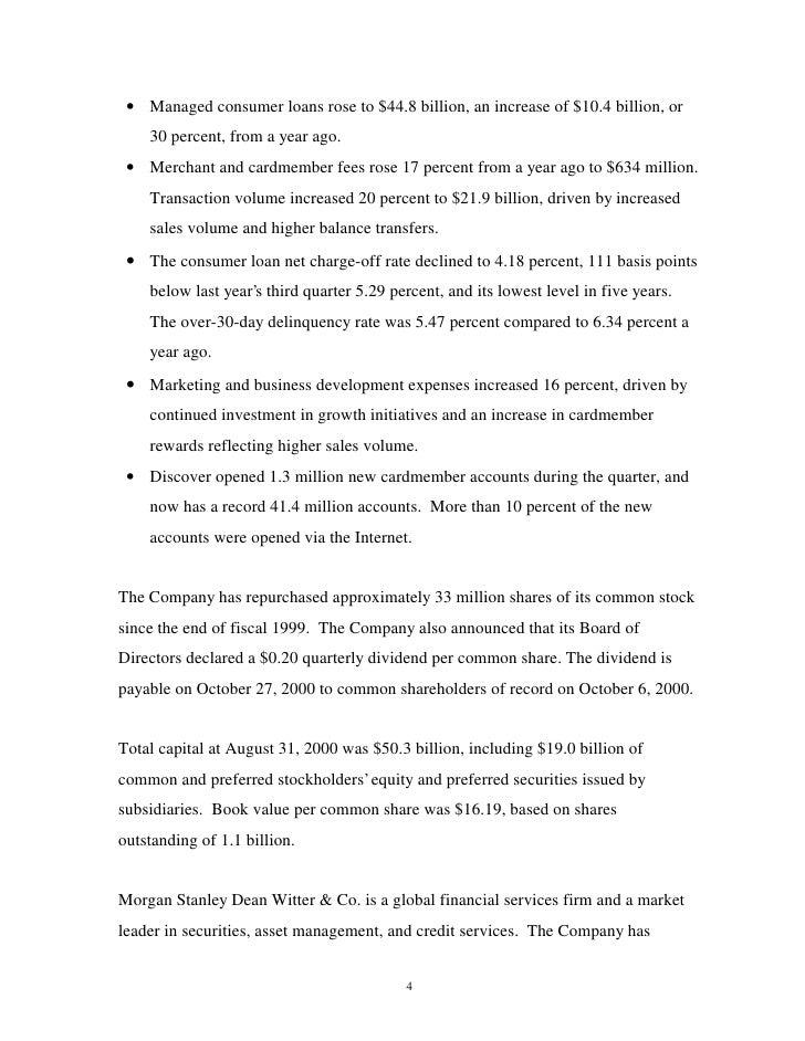 morgan stanley Earnings Archive 2000 3rd