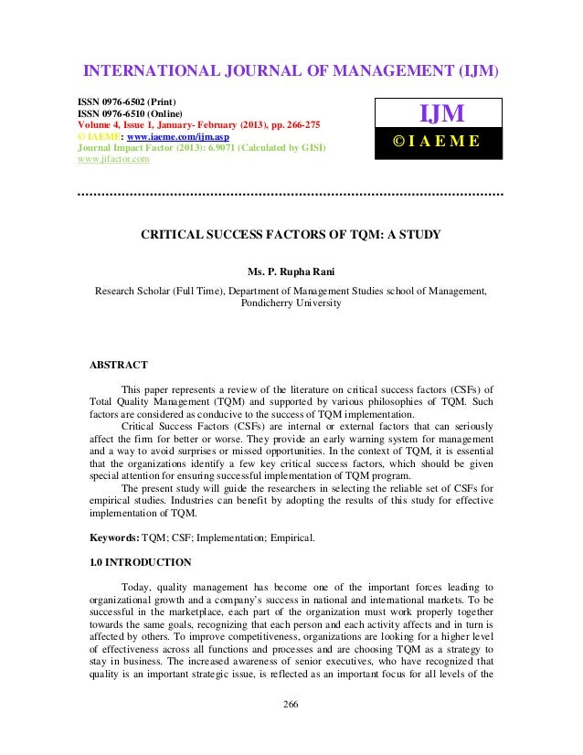 International Journal of Management (IJM), ISSN 0976 – 6502(Print), ISSN 0976 – 6510(Online), Volume 4, Issue 1, January- ...