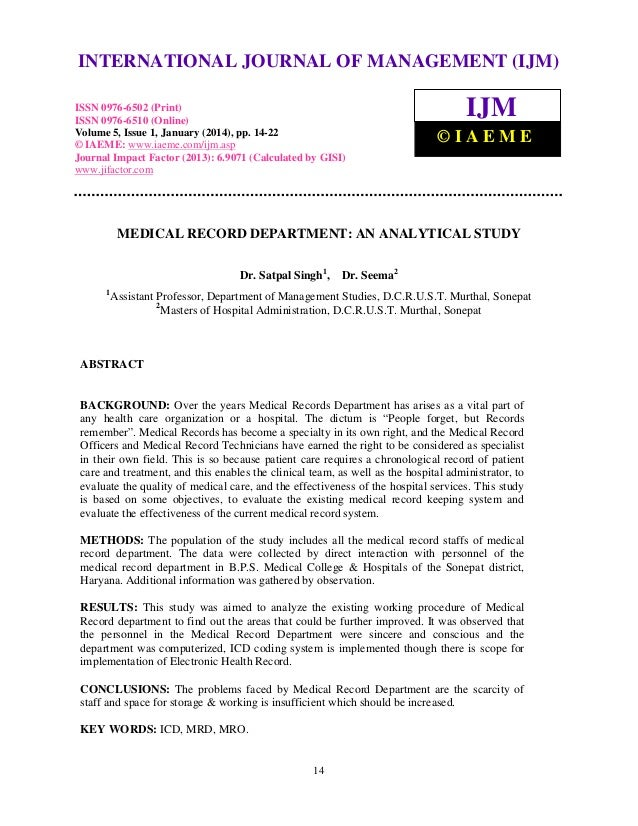 International Journal of Management (IJM), ISSN INTERNATIONAL JOURNAL0976 – MANAGEMENT (IJM) OF 6502(Print), ISSN 0976 - 6...