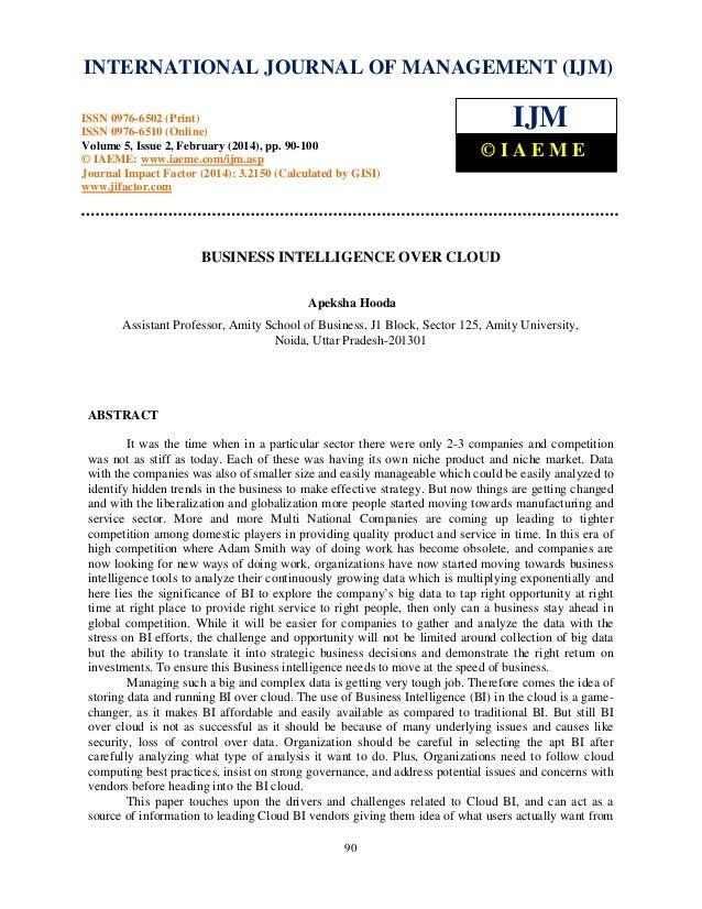 International Journal of Management (IJM), ISSN INTERNATIONAL JOURNAL 0976 – MANAGEMENT (IJM) OF 6502(Print), ISSN 0976 - ...