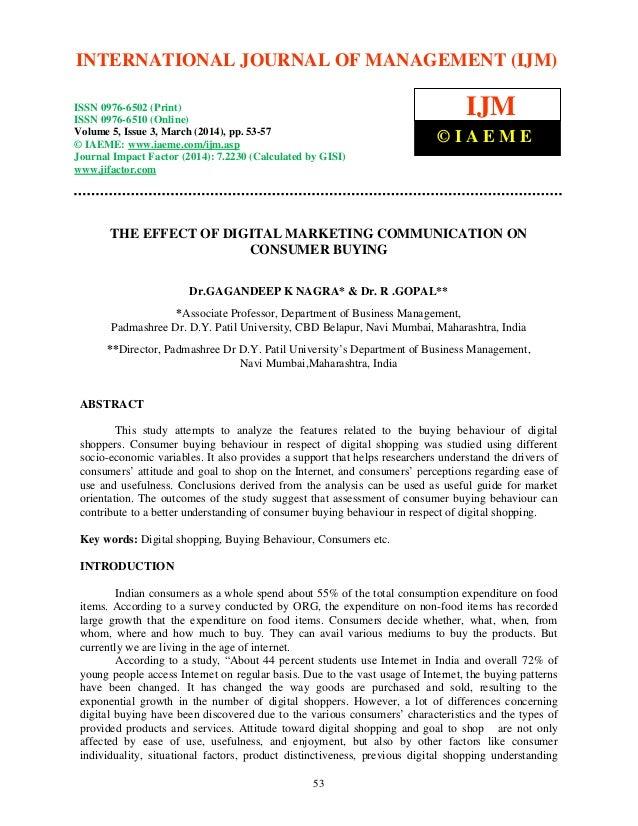 International Journal of Management (IJM), ISSN 0976 – 6502(Print), ISSN 0976 - 6510(Online), Volume 5, Issue 3, March (20...