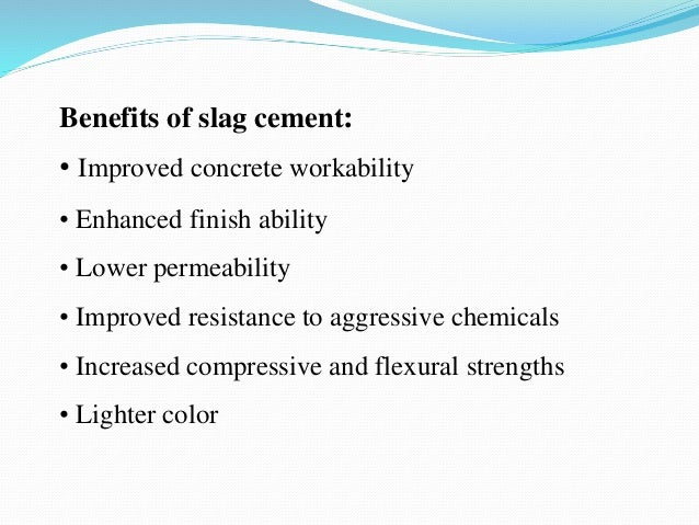 Slag Cement Uses : Use of blast furnace slag in road construction ppt