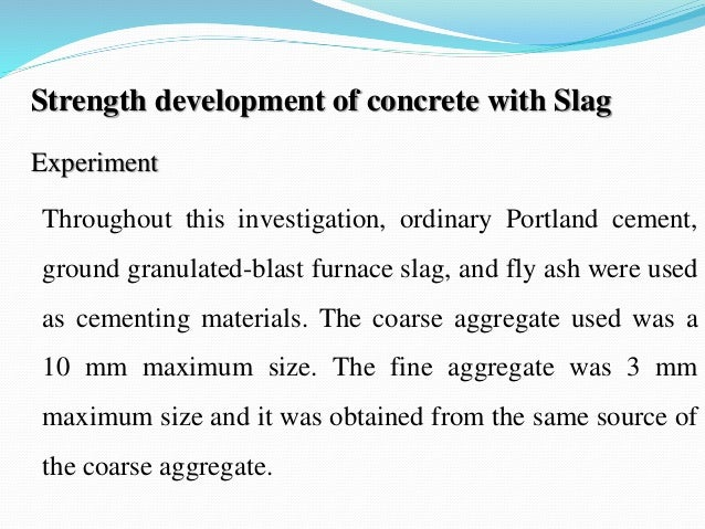 Portland Blast Furnace Cement : Use of blast furnace slag in road construction ppt