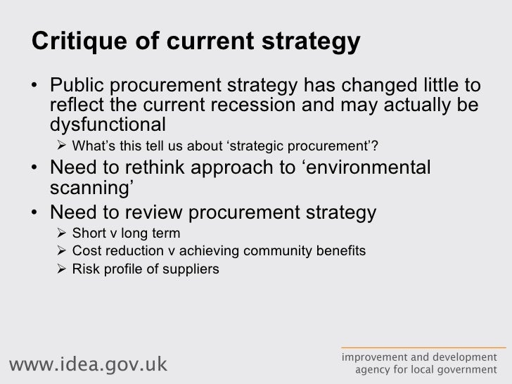 importance of procurement in public sector