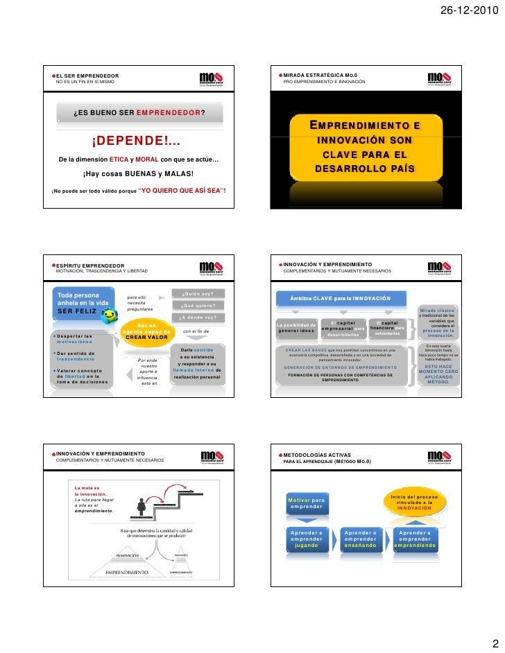 Experiencias Emprendedoras/ Kenneth Gent Slide 2