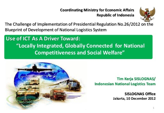 Coordinating Ministry for Economic Affairs                                                Republic of IndonesiaThe Challen...