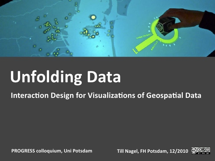 Unfolding Data Interac1on Design for Visualiza1ons of Geospa1al Data PROGRESS colloquium, Uni Pots...